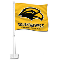 Southern Mississippi Eagles Car Flag with Plastic Rod