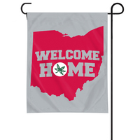 Ohio State Buckeyes Garden Flag with Window Bracket