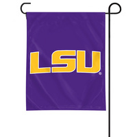 LSU Tigers Garden Flag with Window Bracket