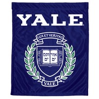 Yale Bulldogs Garden Flag with Window Bracket