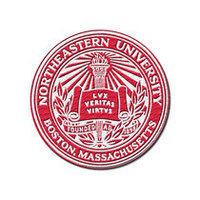 Northeastern Huskies MCM Embroidered Patch
