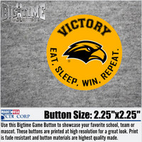 Eat, Sleep, Win, Repeat Magnet Button