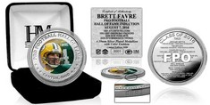 Brett Favre 2016 Pro Football HOF Induction Silver Color Coin