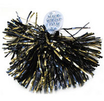 WVU Mountaineers Shimmer Hair Pom