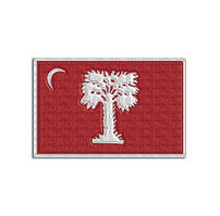 Big Red Flag Embroidered Patch