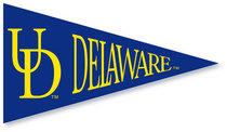 Delaware Blue Hens Mini Logo Pennant Magnet from Collegiate Pacific