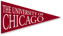 University of Chicago Mini Logo Pennant Magnet from Collegiate Pacific