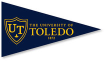 University of Toledo Mini Logo Pennant Magnet from Collegiate Pacific
