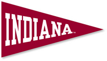 Indiana Hoosiers Mini Logo Pennant Magnet from Collegiate Pacific