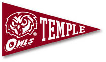 Temple Mini Logo Pennant Magnet from Collegiate Pacific
