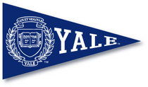 Yale Bulldogs Mini Logo Pennant Magnet from Collegiate Pacific
