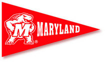 University of Maryland Mini Logo Pennant Magnet from Collegiate Pacific