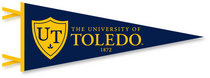 University of Toledo Logo Pennant from Collegiate Pacific