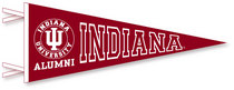 Indiana Hoosiers Logo Pennant from Collegiate Pacific
