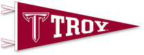 Troy University Logo Pennant from Collegiate Pacific
