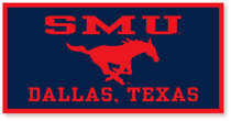 SMU Mustangs Horizontal Logo Banner from Collegiate Pacific