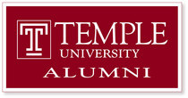 Temple Horizontal Logo Banner from Collegiate Pacific