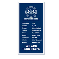 Penn State Nittany Lions Vertical Logo Banner from Collegiate Pacific