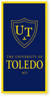 University of Toledo Vertical Logo Banner from Collegiate Pacific