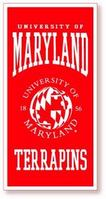 University of Maryland Vertical Logo Banner from Collegiate Pacific