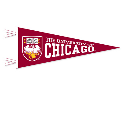 University of Chicago Multi Color Logo Pennant from Collegiate Pacific