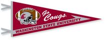 Washington State Cougars Multi Color Logo Pennant from Collegiate Pacific