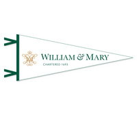 William and Mary Multi Color Logo Pennant from Collegiate Pacific