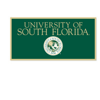 USF Bulls Horizontal Multi Color Logo Banner from Collegiate Pacific