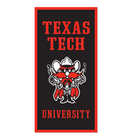Texas Tech Red Raiders Vertical Multi Color Logo Banner from Collegiate Pacific