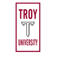 Troy University Vertical Multi Color Logo Banner from Collegiate Pacific