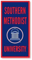 SMU Mustangs Vertical Multi Color Logo Banner from Collegiate Pacific