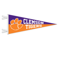 Clemson Tigers Multi Color Logo Pennant from Collegiate Pacific