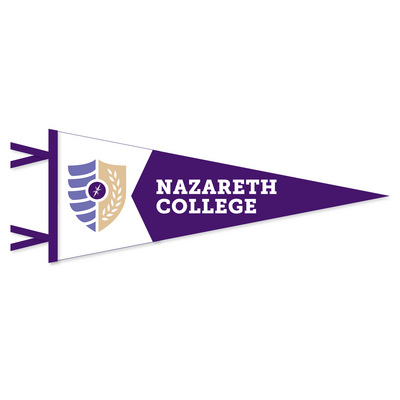 7x18 2 Piece Multi Color Felt Pennant