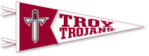 Troy University Multi Color Logo Pennant from Collegiate Pacific