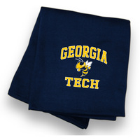 Georgia Tech Sweatshirt Blanket from MV Sport