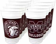 Mississippi State Bulldogs Plastic Cups
