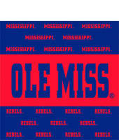 Ole Miss Beverage Napkins
