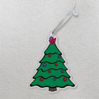Color Shock Acrylic Ornaments