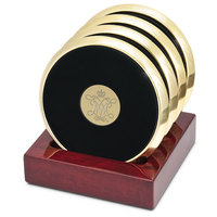Set of Four Goldtone Coasters (Online Only)
