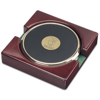 Set of Two Gold Tone Coasters (Online Only)