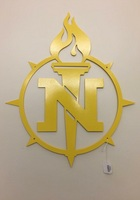 One Color Metal Sign with Torch