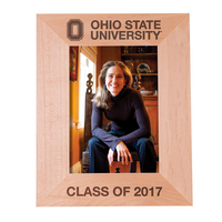 Ohio State Buckeyes Maple Picture Frame