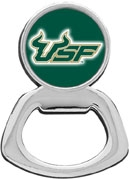South Florida Bulls Silver Tone Bottle Opener Magnet
