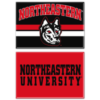 Northeastern Huskies Two Pack Rectangular Magnets from Wincraft