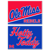 Ole Miss Two Pack Rectangular Magnets from Wincraft
