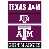 Texas A&M Aggies Two Pack Rectangular Magnets from Wincraft