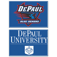 DePaul Two Pack Rectangular Magnets from Wincraft