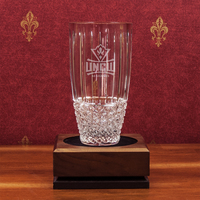 Crystal Hand Cut Barrel Vase (Online Only)