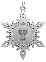 Texas Tech Red Raiders Star Shaped Ornament
