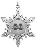 Mississippi State Bulldogs Star Shaped Ornament